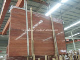 Hole Filled Red Travertine Slabs