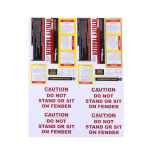 Self Adhesive Paper Custom Printed Warning Security Labels