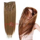 Best Selling High Quality Fashion100% Human Hair Clips Hair Extension