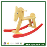 High Quality Double Color Children Wooden Rocking Horse