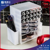 Factory Hot Sale Black & White Acrylic Spinning Lipstick Stand