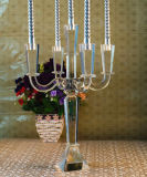 5 Arms Crystal Candle Holder for Home Decoration