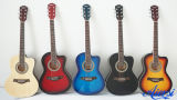 Chinese Factory Wholesale Beginner Cutway Acoustic Guitar Sg026c