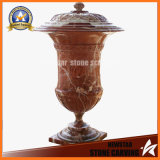 Sunglow Red Marble Flower Pot Stand for Garden (NS-11P1)