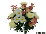 Artificial/Plastic/Silk Flower Rose/Hydrangea/Daisy Mixed Bush (2918073)