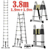 3.8m 2 in 1 Telescopic Ladder En 131/SGS Certificate