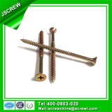 70mm Yellow Zinc Plated Half Threaded Self Tapping Screws for Wooden