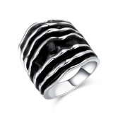 High Polished Silver Color Enamel Ring for Men and Women