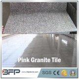 Cheap Pink Dark Stone Floor Tile Granite for Floor, Wall, Stair, Window Sill