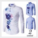 Hotsell Flora Printing Slim Fashion Wrinkle Free Casual Men′s Shirts