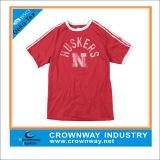 Boys Cotton Print Short Sleeve T Shirt with Stripes