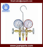 Brass Manifold Gauge with Sight Glass