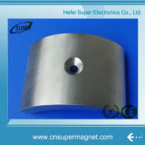 N52 Rare Earth Permanent Sintered NdFeB Arc Magnet with Hole