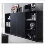 Modern Design Northern Europe Style Wood High Glossy MDF Bookshelf Bookcase