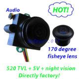 HD Color 170deg Fish Eye Mini Hidden Security CCTV Camera with Audio