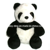 Plush Sitting Panda with Long Hair Plush