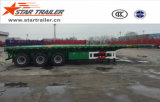 40-60ton Flatbed Container Semi Trailer