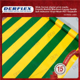 Color Stripes Fabric Waterproof Oxford Textile PVC Coated Polyester Fabric Tarpaulin