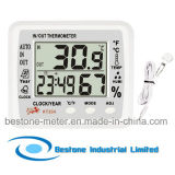 Hygro-Thermometer Clock & Calendar with Indoor and Outdoor Temperature (KT204)