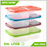 Top Quality, BPA Free 3-Compartment Stackable Meal Prep Containers Reusable Bento Lunch Box Portion