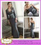 New Elegant Hot Sale Taffeta Ruched Beaded Sweetheart Sheath Vintage Mother of The Bride Dresses with Jacket Yj0103