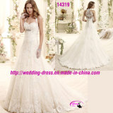 A-Line Sweetheart Lace Bridal Dress Wedding with Buttons