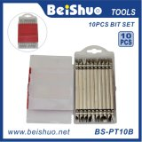 10PC Drill Bit Set with Double Slotted Head