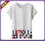Fashion Sexy Cotton Printed T-Shirt for Women (W309)