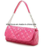 Fashion Pink Patent PU with Chain Bag (KCH18)