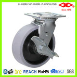 200mm Swivel Plate with Side Brake TPR Caster (P701-34D200X50Z)