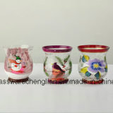 Antique Glass Candle-Holders with Customized Painting (ZT-085)