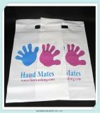 Punch Hole Handle Advertising Materials Plastic Bags with Logo Printing