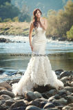Sweetheart Bridal Gowns Mermaid Tiers Lace Wedding Dresses Z2017