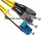 LC/UPC-FC/Upc Singlemode Duplex Fiber Optic Patch Cord (fiber jumper cables)