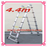 Combination Aluminum Ladder /Telescopic Ladder with Hinge 4.4m