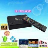 4k Amlogic S905 TV Box Quad Core Cortexa53 64bits Processor Fastest Android5.1 TV Box Supports H. 265 4k