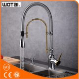 Chrome Gold Finished Spray Head Kitchen Faucet