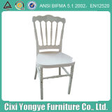 Strong and Durable White Resin Napoleon Chair