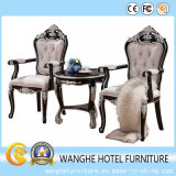 Solid Wood Frame +Tea Arm/ Cheap Leather Dining Chair by Wholesale