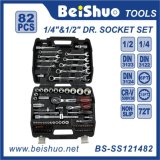 82 PCS 1/4′′ 1/2′′ Dr. Cr-V Hand Tools Socket Set