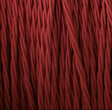 Deep Red 3 Conductor Twisted Wire, Lamp Wire