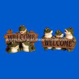 Polyresin Crocodile with Welcome Sign Garden Decor