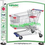 European Style Supermarket Galvanized Shopping Trolleys