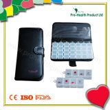 PU Wallet 7 Day Plastic Pill Box (pH1198D)