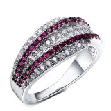 Micro Setting 925 Silver Jewelry Silver Rings Wedding Gift
