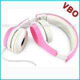 New Design High Quality Pink Ear Headphones Children Wired Headset