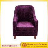 Leisure Purple Fabric Wood Lounge Sofa Chair