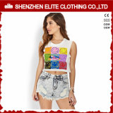Wholesale Summer Womens Sexy White Design Cropped Top (ELTWBJ-303)