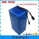 1800W 60V 30ah Lithium Battery Use 3.7V 5ah 26650 Cell