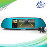 Car Security System with 7-Inch Mirror Monitor Front and Rear View Camera